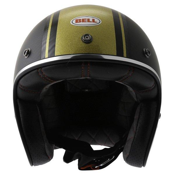 Bell Custom 500 RSD Carbon Bomb Open Face Motorcycle Helmet Front