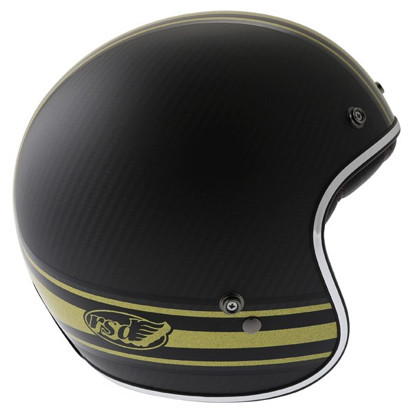 Bell Custom 500 RSD Carbon Bomb Open Face Motorcycle Helmet Right Side