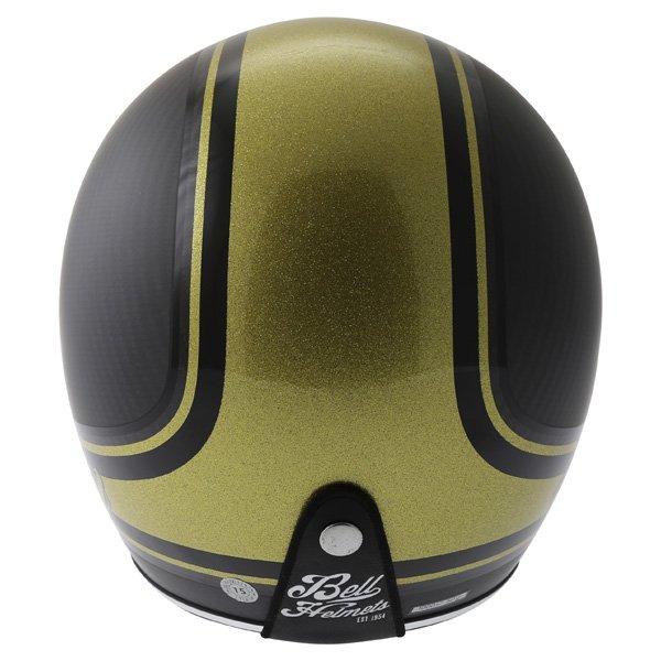 Bell Custom 500 RSD Carbon Bomb Open Face Motorcycle Helmet Back