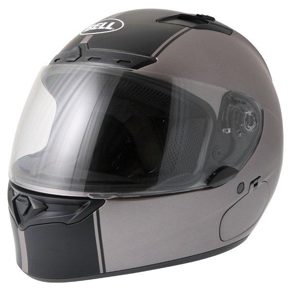Bell Qualifier DLX Rally Matt Titanium Helmet Front Left