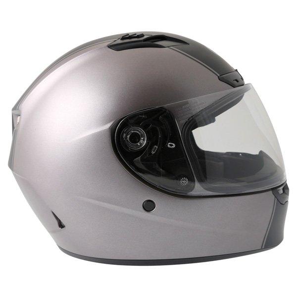 Bell Qualifier DLX Rally Matt Titanium Helmet Right Side