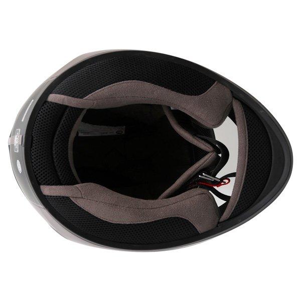 Bell Qualifier DLX Rally Matt Titanium Helmet Inside