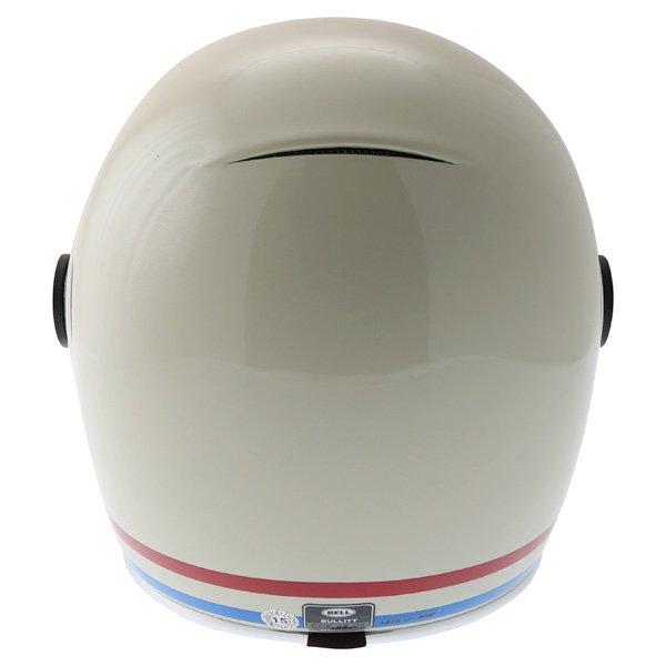 Bell Bullitt Stripes Vintage White Full Face Motorcycle Helmet Back