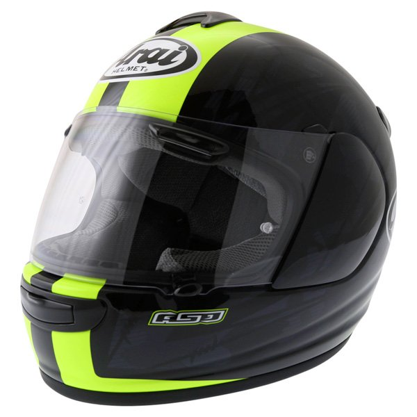 Arai Chaser V Blast Yellow Full Face Motorcycle Helmet Front Left