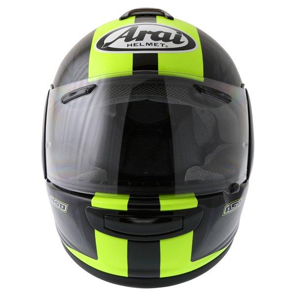 Arai Chaser V Blast Yellow Full Face Motorcycle Helmet Front
