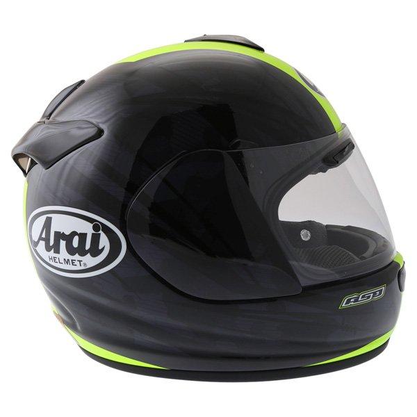 Arai Chaser V Blast Yellow Full Face Motorcycle Helmet Right Side