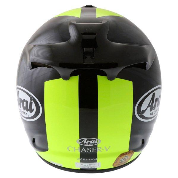 Arai Chaser V Blast Yellow Full Face Motorcycle Helmet Back