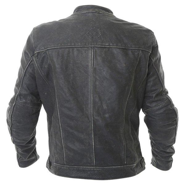 BKS Classic Black Leather Motorcycle Jacket Back