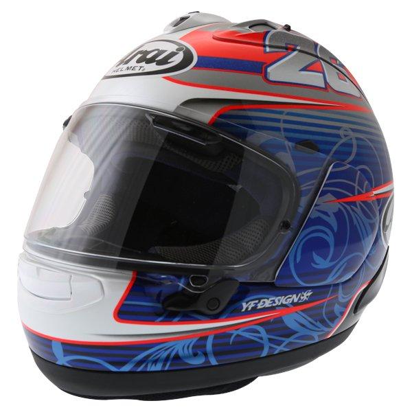 Arai RX-7V Pedrosa Full Face Motorcycle Helmet Front Left