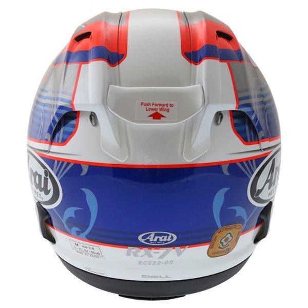 Arai RX-7V Pedrosa Full Face Motorcycle Helmet Right Side