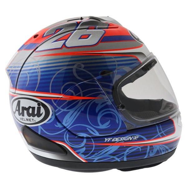 Arai RX-7V Pedrosa Full Face Motorcycle Helmet Back