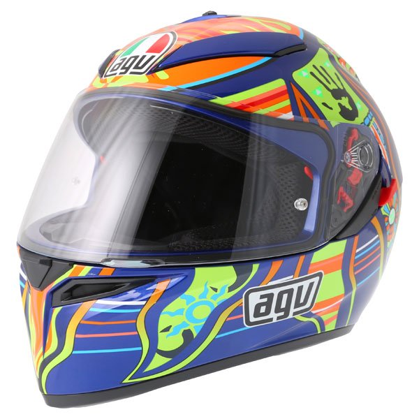 AGV K3 SV Valentinoi Rossi 5 Continents Full Face Motorcycle Helmet Front Left