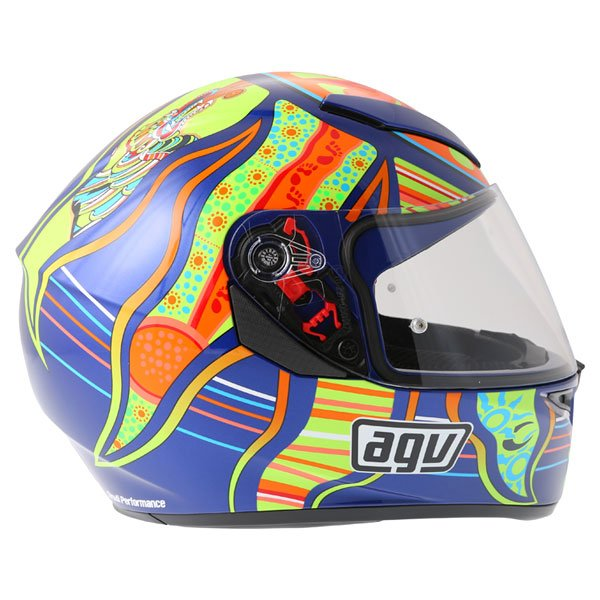 AGV K3 SV Valentinoi Rossi 5 Continents Full Face Motorcycle Helmet Right Side