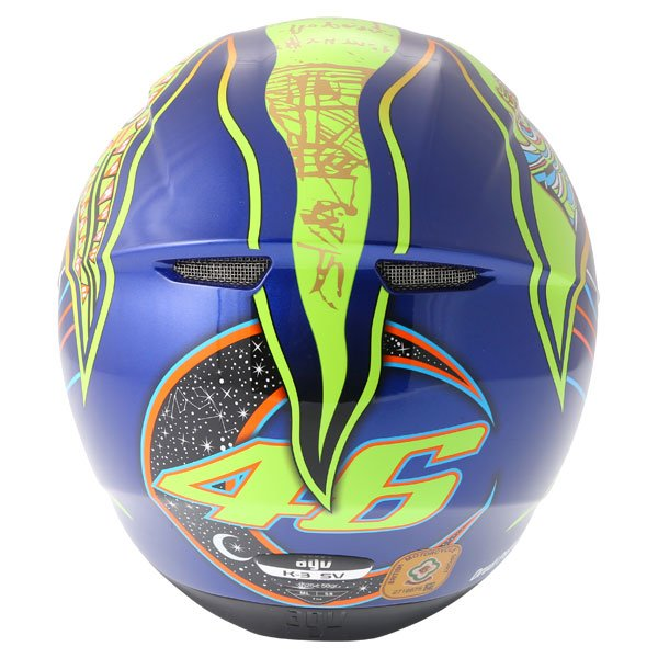 AGV K3 SV Valentinoi Rossi 5 Continents Full Face Motorcycle Helmet Back