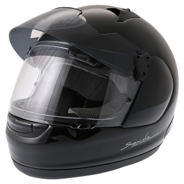 Arai Quantum ST Pro Diamond Black Full Face Motorcycle Helmet Open With Sun Visor Up