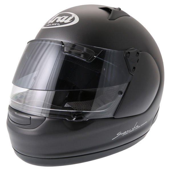 Arai Quantum ST Pro Frost Black Full Face Motorcycle Helmet Front Left