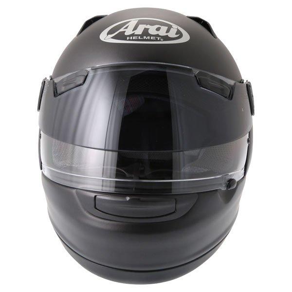 Arai Quantum ST Pro Frost Black Full Face Motorcycle Helmet Front