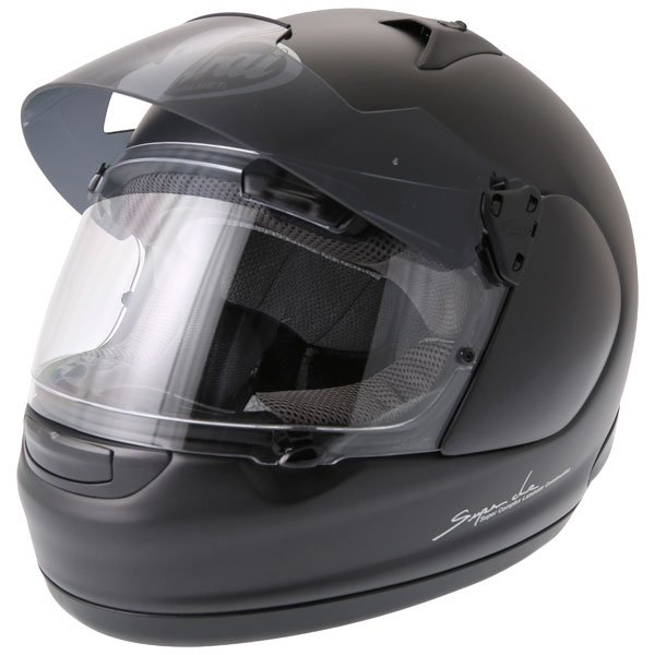 Arai Quantum ST Pro Frost Black Full Face Motorcycle Helmet Sun Visor Up