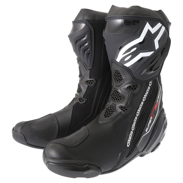 Alpinestars Supertech R 2016 Black Motorcycle Boots Pair