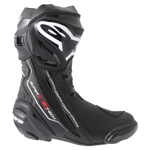 Alpinestars Supertech R 2016 Black Motorcycle Boots Outside leg