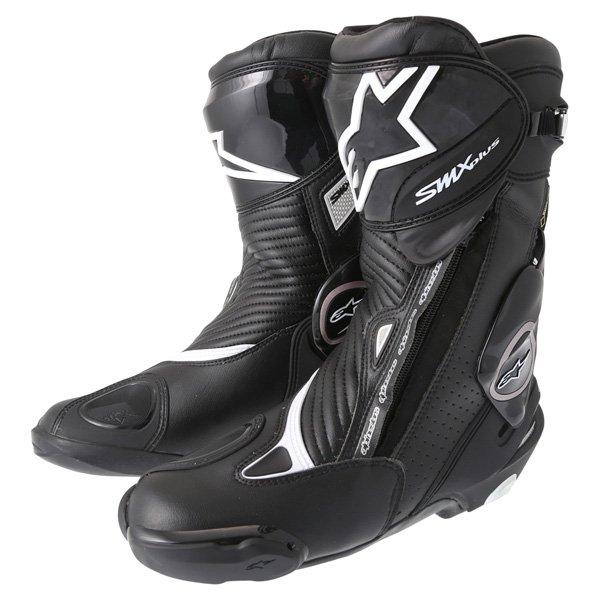 Alpinestars SMX-Plus Goretex Black Waterproof Motorcycle Boots Pair
