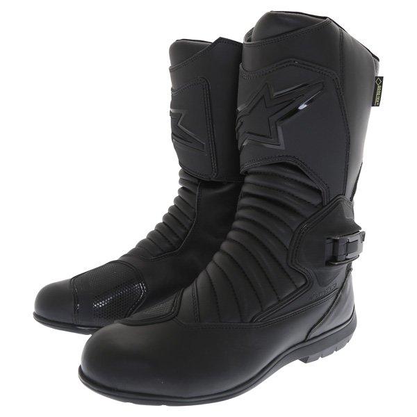 Alpinestars Super Touring Goretex Black Waterproof Motorcycle Boots Pair
