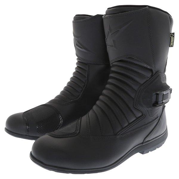 Alpinestars Mono Fuse Goretex Black Waterproof Motorcycle Boots Pair