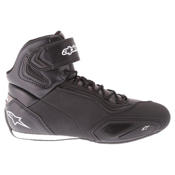 Alpinestars Faster-2 Black Motorcycle Shoes Outside leg