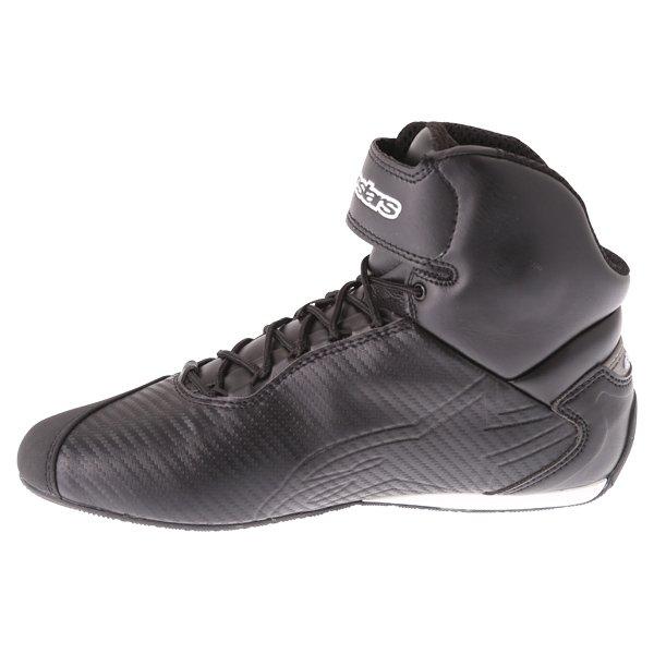 Alpinestars Faster-2 Black Motorcycle Shoes Inside leg