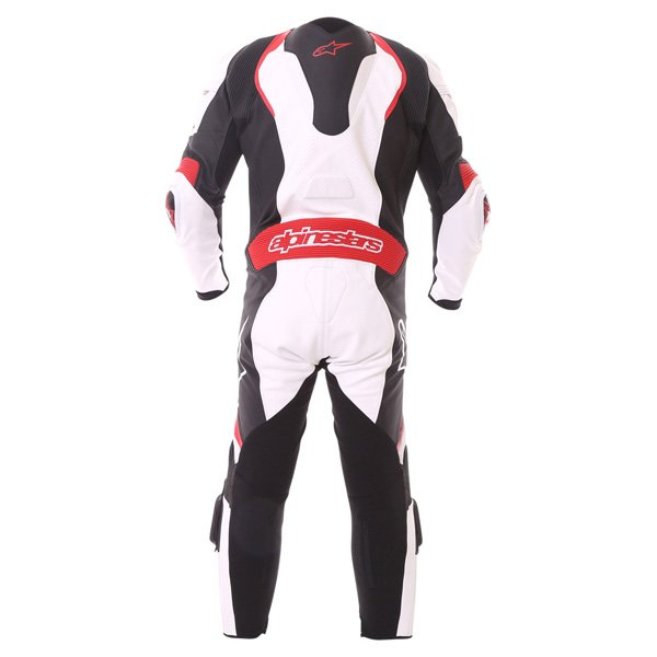 Alpinestars GP Pro Tech Air 1pc Mens White Black Red Leather Motorcycle Suit Back