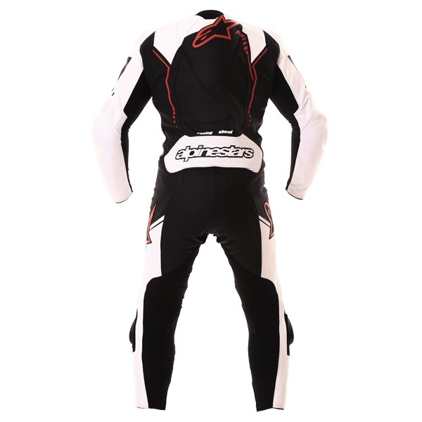Alpinestars GP Plus 1pc 2016 Mens Black White Red Leather Motorcycle Suit Back