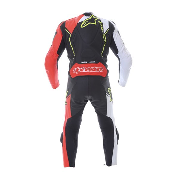Alpinestars GP Plus 1pc 2016 Mens Black White Red Fluo Yellow Leather Motorcycle Suit Back