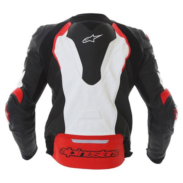 Alpinestars GP Pro Black White Red Leather Motorcycle Jacket Back