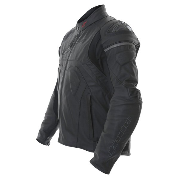 Alpinestars Core Black Leather Motorcycle Jacket Side