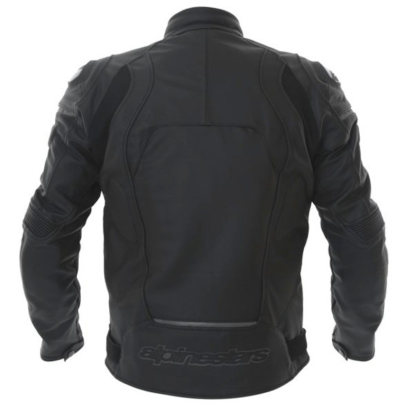 Alpinestars Core Black Leather Motorcycle Jacket Back