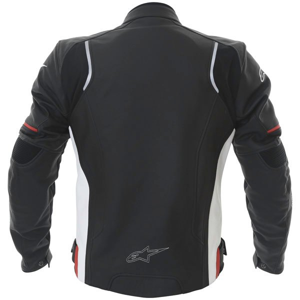 Alpinestars Devon Black White Leather Motorcycle Jacket Back