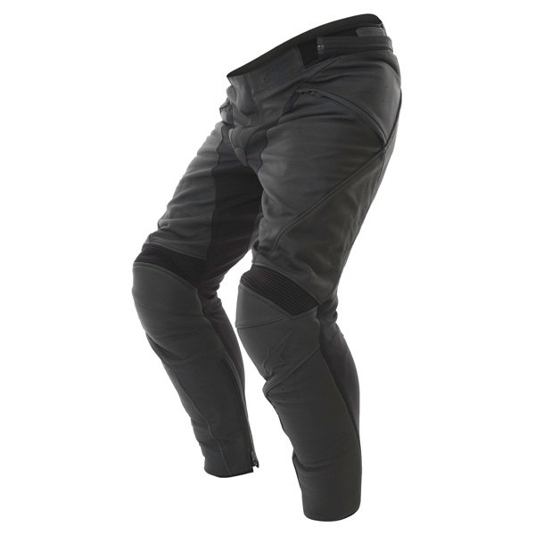 Alpinestars Jagg Black Leather Motorcycle Pants Riding crouch