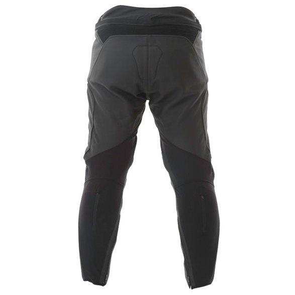 Alpinestars Jagg Black Leather Motorcycle Pants Rear
