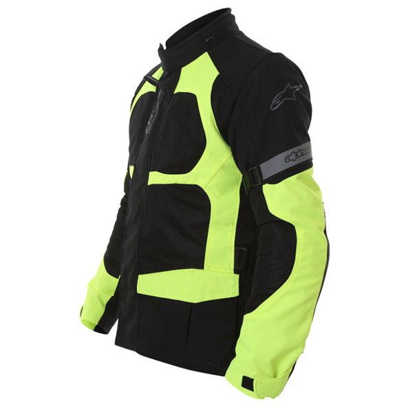 Alpinestars Sante Fe Air DS Mens Black Fluo Yellow Textile Motorcycle Jacket Side