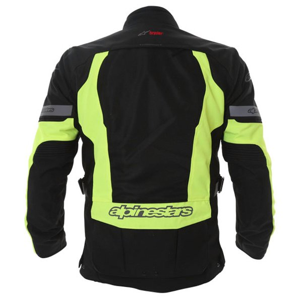 Alpinestars Sante Fe Air DS Mens Black Fluo Yellow Textile Motorcycle Jacket Back