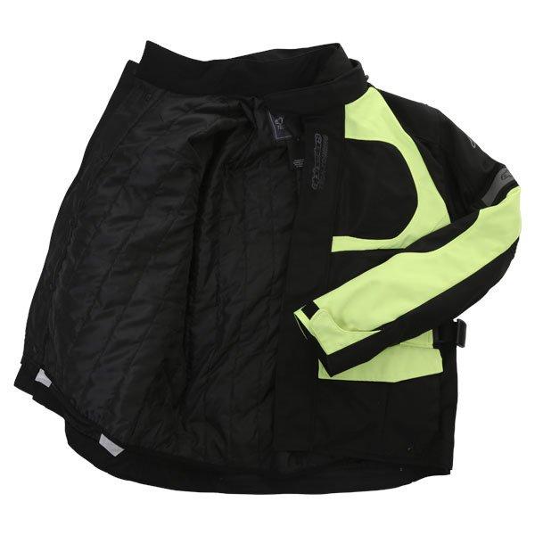 Alpinestars Sante Fe Air DS Mens Black Fluo Yellow Textile Motorcycle Jacket Inside