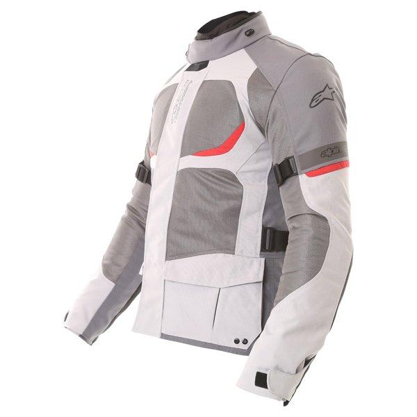 Alpinestars Sante Fe Air DS Mens Light Grey Grey Textile Motorcycle Jacket Side