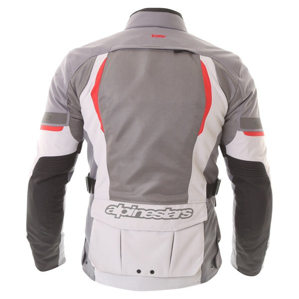 Alpinestars Sante Fe Air DS Mens Light Grey Grey Textile Motorcycle Jacket Back