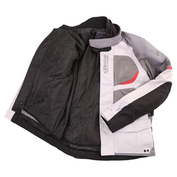 Alpinestars Sante Fe Air DS Mens Light Grey Grey Textile Motorcycle Jacket Inside