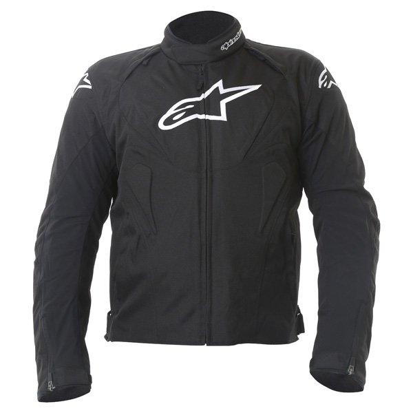 Alpinestars T-Jaws Mens Black Waterproof Textile Motorcycle Jacket Front