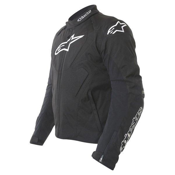 Alpinestars T-Jaws Mens Black Waterproof Textile Motorcycle Jacket Side