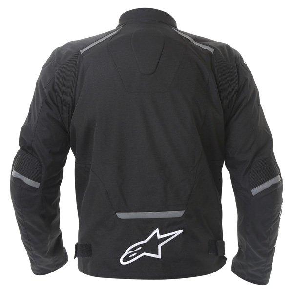 Alpinestars T-Jaws Mens Black Waterproof Textile Motorcycle Jacket Back