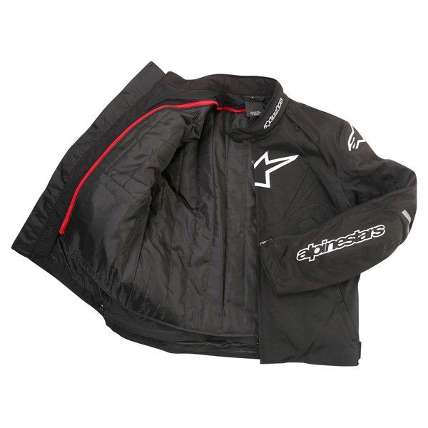 Alpinestars T-Jaws Mens Black Waterproof Textile Motorcycle Jacket Inside
