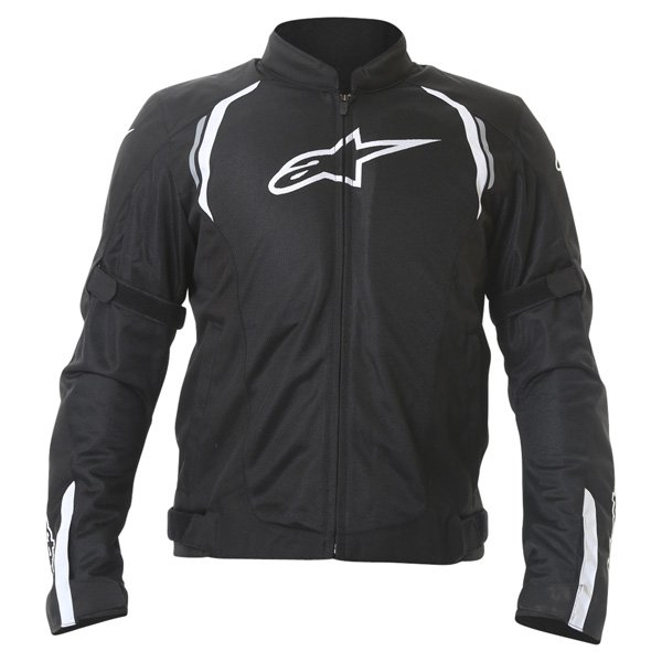 Alpinestars AST Air Mens Black Textile Motorcycle Jacket Front