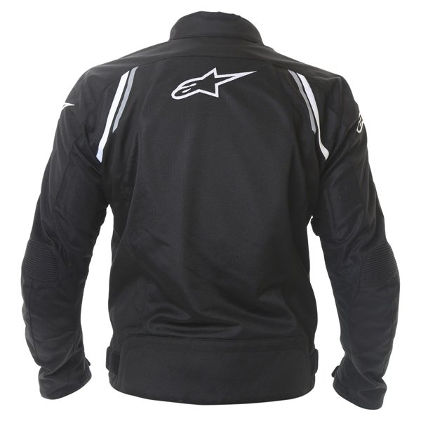 Alpinestars AST Air Mens Black Textile Motorcycle Jacket Back